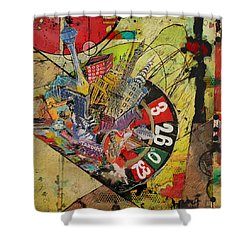 Las Vegas Collage Shower Curtain by Corporate Art Task Force