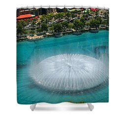 Shower Curtain featuring the photograph Las Vegas Orb by Angela J Wright