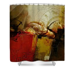 Las Vegas Skyline Collage Shower Curtain by Corporate Art Task Force