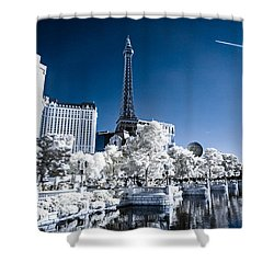 Las Vegas Strip In Infrared 2 Shower Curtain
