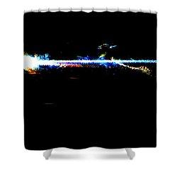Laser Beam Shower Curtain