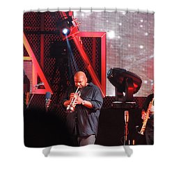 Shower Curtain featuring the photograph Lashawn Ross And Jeff Coffen by Aaron Martens