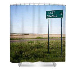 Last Chance Colorado Shower Curtain by Mary Lee Dereske