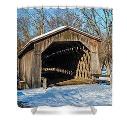 Last Covered Bridge Shower Curtain by Susan  McMenamin