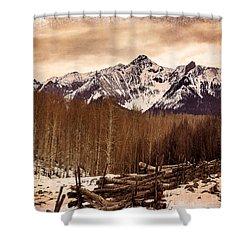 Last Dollar Road Winter Shower Curtain