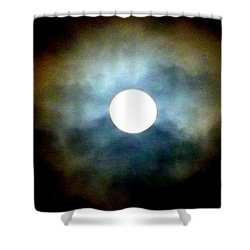 Last Full Cold Moon December 2012 Shower Curtain by Susan Garren