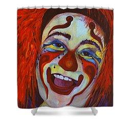 Last Laugh Shower Curtain by Carolyn LeGrand