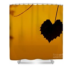 Last Leaf Silhouette Shower Curtain