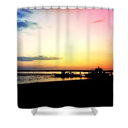 Shower Curtain featuring the photograph Last Light by Denyse Duhaime