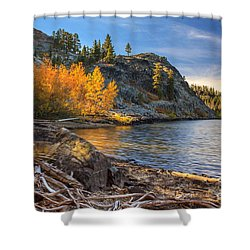 Last Light On Taylor Lake Shower Curtain by James Eddy