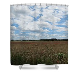 Shower Curtain featuring the photograph Last Of The Poppies by Pema Hou