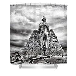 Last Prayer Shower Curtain by Jacky Gerritsen