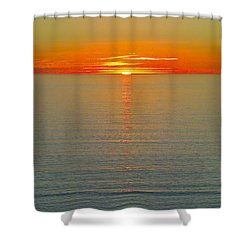 Last Rays Shower Curtain