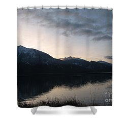 Last Rays Shower Curtain by Leone Lund