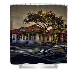 Last Stop Tarpon Springs Shower Curtain by Marvin Spates