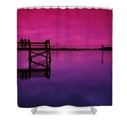 Last Sunset Shower Curtain by Beverly Stapleton