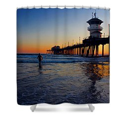 Last Wave Shower Curtain by Tammy Espino