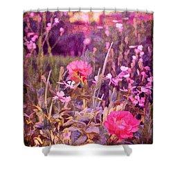 Last Year's Garden Shower Curtain by Pamela Cooper