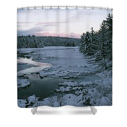 Shower Curtain featuring the photograph Late Afternoon In Winter by David Porteus