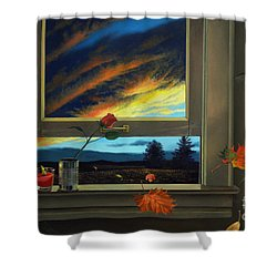 Late Autumn Breeze By Christopher Shellhammer Shower Curtain by Christopher Shellhammer
