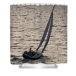 Late Day Easy Breeze Shower Curtain