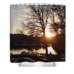 Late Fall At The Station Shower Curtain