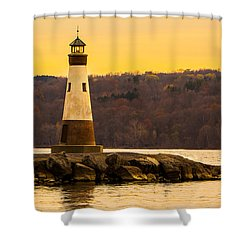 Late Fall Sunset At Myers Park Shower Curtain