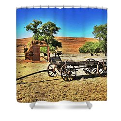 Late For Market Shower Curtain