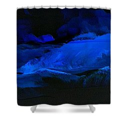 Late Night High Tide Shower Curtain