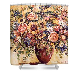 Late Summer Bouquet Shower Curtain by Alexandra Maria Ethlyn Cheshire