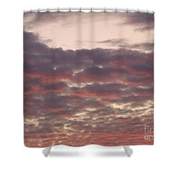 Late Summer Evening Sky Shower Curtain