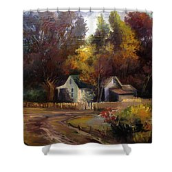 Shower Curtain featuring the painting Late Summer by Mikhail Savchenko