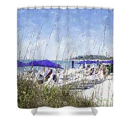 Late Winter Early Spring When Everybody Goes To Florida Shower Curtain