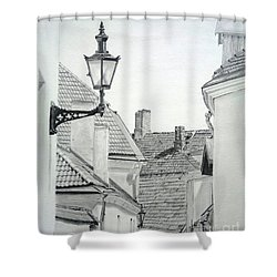 Latern Shower Curtain by Jackie Mestrom