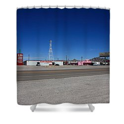 Lathrop Wells Nevada Shower Curtain by Frank Romeo