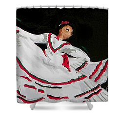 Latin Dancer Shower Curtain by Marisela Mungia