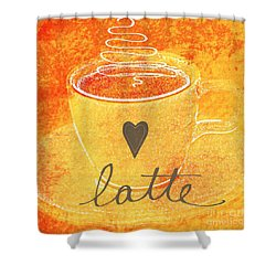 Latte Shower Curtain by Linda Woods