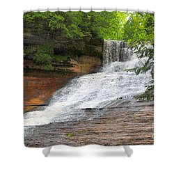 Shower Curtain featuring the photograph Laughing Whitefish Waterfall by Terri Gostola