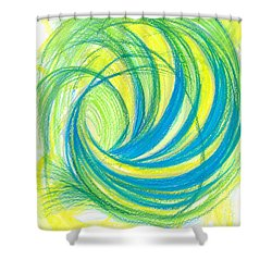 Launch Yourself On Every Wave Shower Curtain by Kelly K H B