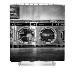 Laundromat Art Shower Curtain by Bob Orsillo