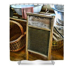 Laundry Day Shower Curtain by Paul Ward