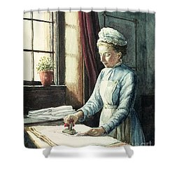 Laundry Maid Shower Curtain by English School