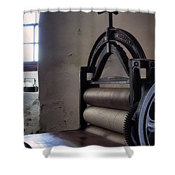 Laundry Press Shower Curtain by Jason Politte