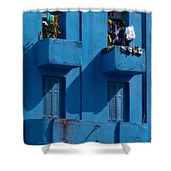 Laundry - Sao Paulo Shower Curtain by Julie Niemela