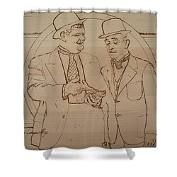 Laurel And Hardy - Thicker Than Water Shower Curtain