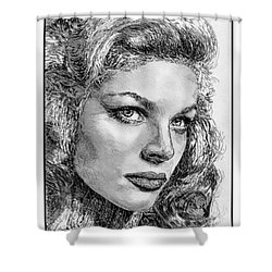 Lauren Bacall Shower Curtain by J McCombie