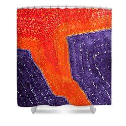 Lava Flow Original Painting Shower Curtain