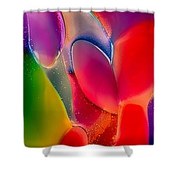 Shower Curtain featuring the photograph Lava Lamp by Omaste Witkowski