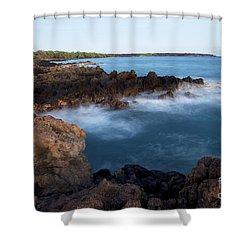 Lava Rock Shore Shower Curtain by Jenna Szerlag