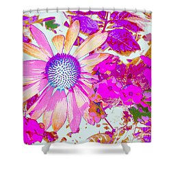 Shower Curtain featuring the photograph Lavender Echinacea by Annie Zeno
